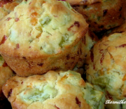 GREEN TOMATO MUFFINS WITH CHEESE