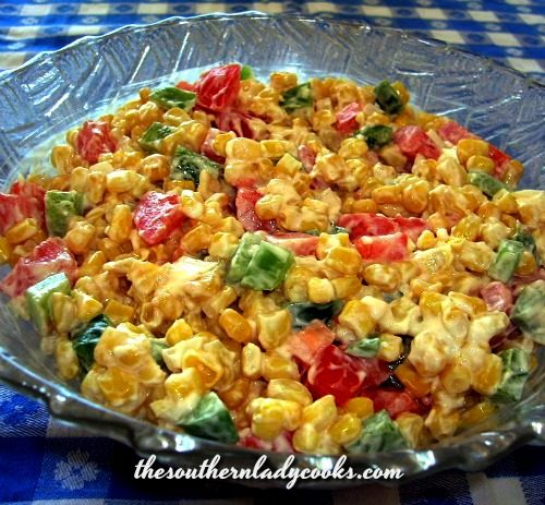 Corn Salad - The Southern Lady Cooks