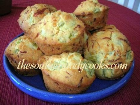 Green Tomato Muffins with Cheese - Copy