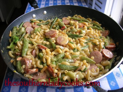 Sausage, Pasta and Cheese Skillet