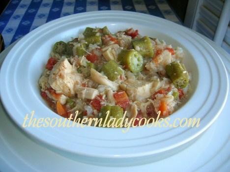 Slow Cooker Chicken Gumbo Soup - Copy