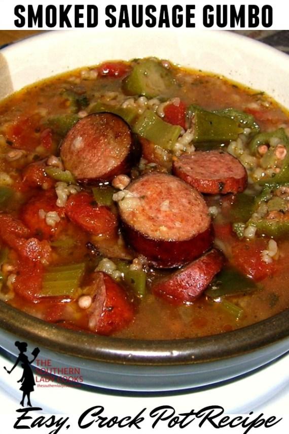 Smoked Sausage Gumbo - Crock Pot Recipe