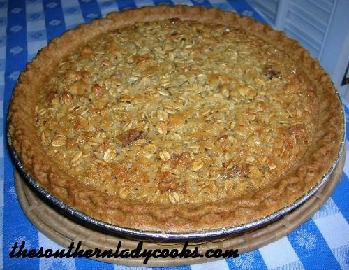 Oatmeal Pie -The Southern Lady Cooks