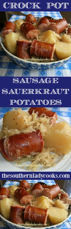 Easy Crock Pot Recipe Sausage Sauerkraut And Potatoes