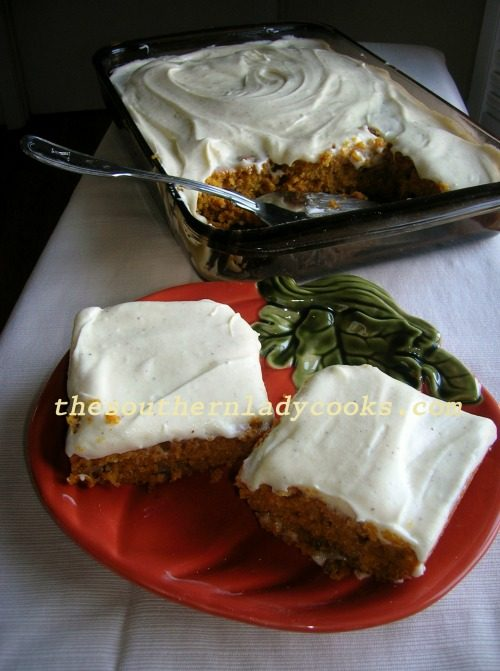 Pumpkin Nut Cake -The Southern Lady Cooks