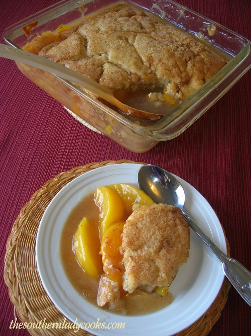 PEACH CRISP - The Southern Lady Cooks - Easy and Delicious