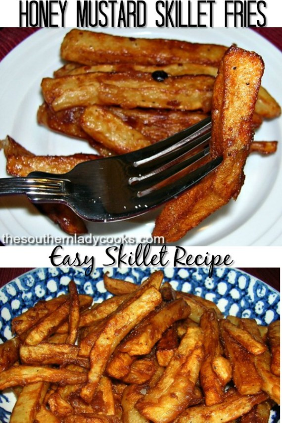 Honey Mustard Skillet Fries - The Southern Lady Cooks