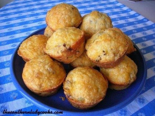 Cheese Sausage Muffins The Southern Lady Cooks