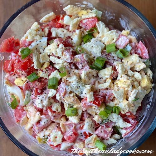 Southern Tomato Cracker Salad - The Southern Lady Cooks