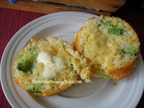 Broccoli Cheddar Cornbread Muffins
