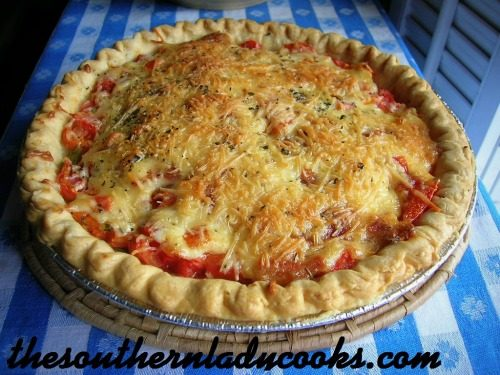 Tomato Pie The Southern Lady Cooks