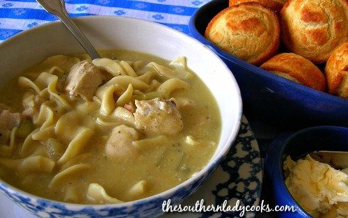 Chicken Noodle Soup - The Southern Lady Cooks