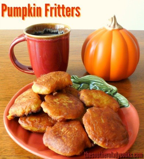 Pumpkin Fritters-The Southern Lady Cooks
