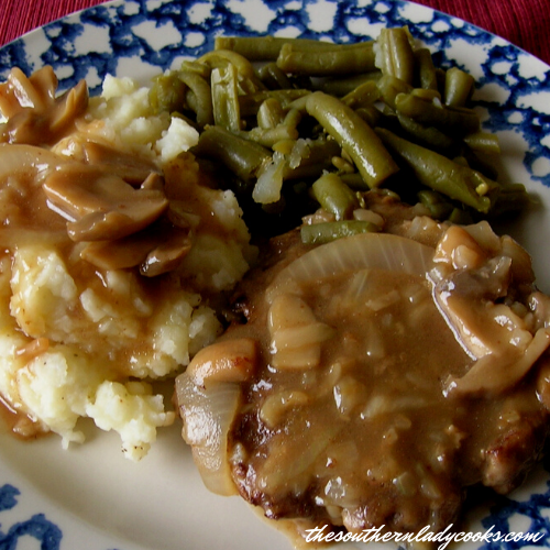Hamburger Steak and Gravy - The Southern Lady Cooks