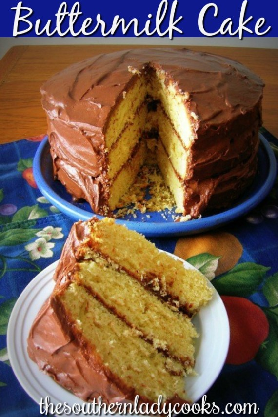Buttermilk Cake - The Southern Lady Cooks