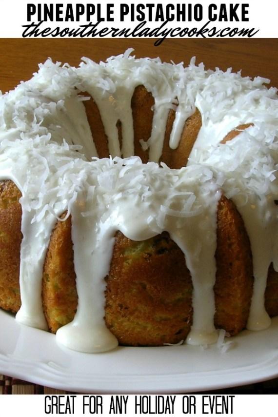 Pineapple Pistachio Cake