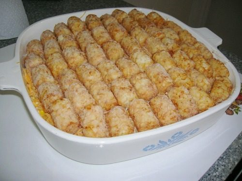 Preheat oven to inch-baking dish. Arrange tater tots in the prepared mixing bowl, combine sour cream, cheese, and top of the ustubes.ml for 45 to 60 minutes.