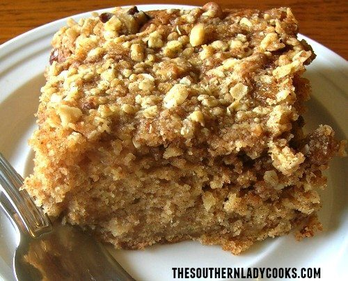 Fresh Apple Cake With Streusel Topping The Southern Lady Cooks