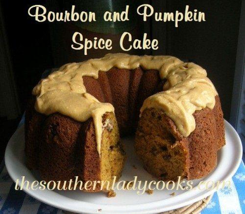Bourbon and Pumpkin Spice Cake - TSLC