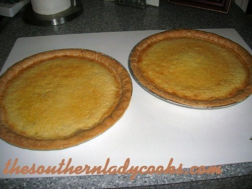 Buttermilk Pie TSLC