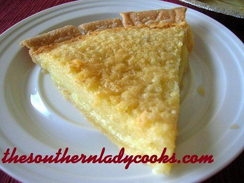 Buttermilk Pie - TSLC