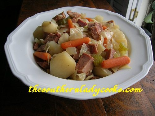 Crock Pot Cabbage And Ham The Southern Lady Cooks