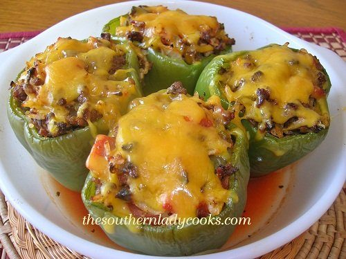 Stuffed Green Peppers The Southern Lady Cooks