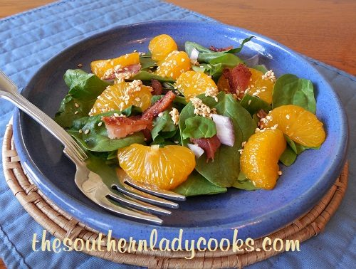 Bacon and Mandarin Orange Spinach Salad-TSLC