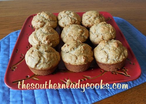 Peanut Butter and Banana Muffins TSLC