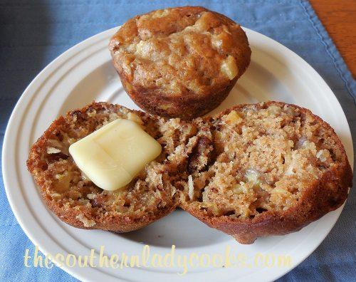 Pineapple, Banana and Coconut Muffins TSLC