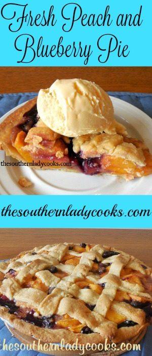Fresh Peach and Blueberry Pie
