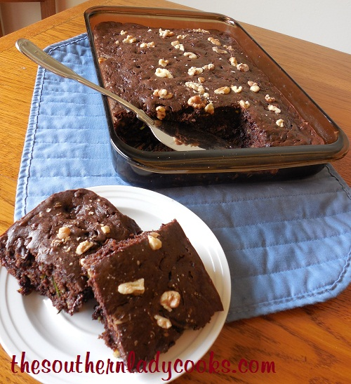 Sour Cream Zucchini Brownies TSLC