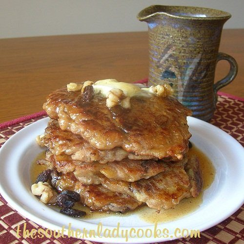 Apple Pancakes with Apple Syrup - TSLC