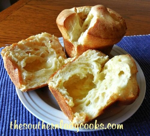 Easy Popovers - The Southern Lady Cooks