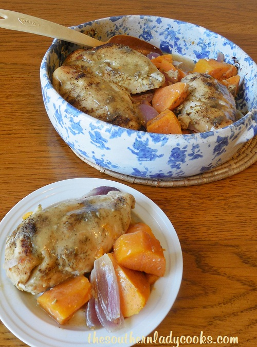 Baked Chicken with Sweet Potatoes - TSLC