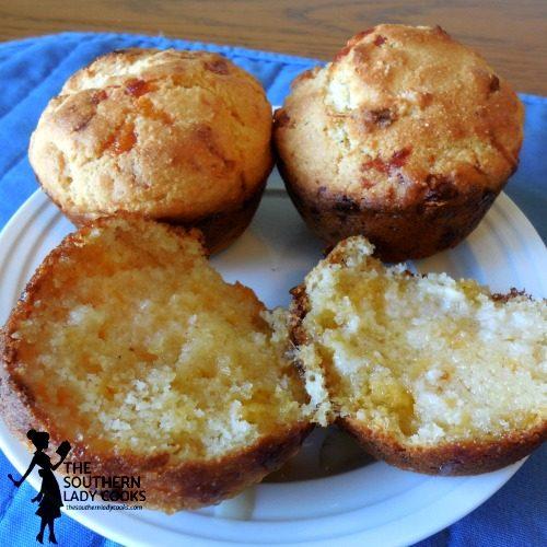 Cheesy Honey Cornbread Muffins