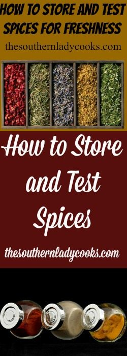 How to Store and Test Spices