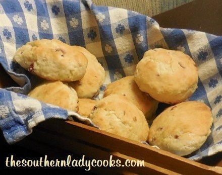 Sour Cream Cranberry Biscuits -TSLC - Copy - Copy (2)