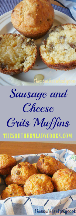the-southern-lady-cooks-sausage-and-cheese-grits-muffins