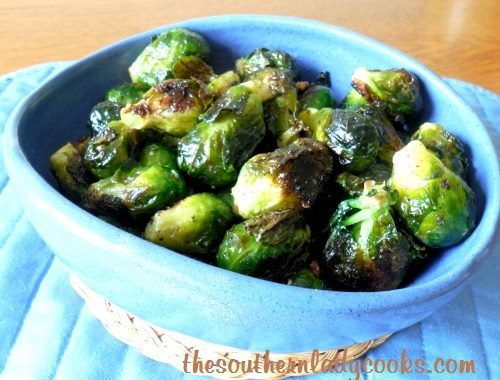 Roasted Garlic Brussels Sprouts - TSLC - Copy