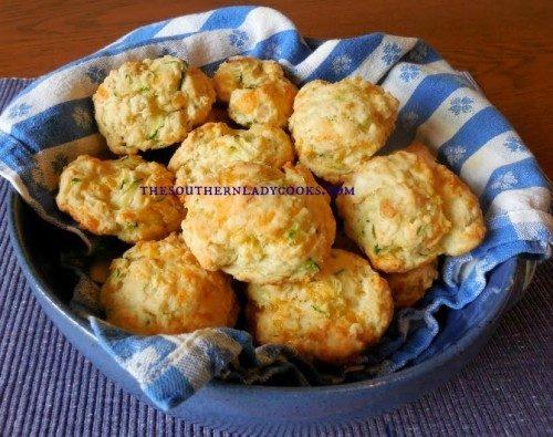 Cheddar Zucchini Biscuits