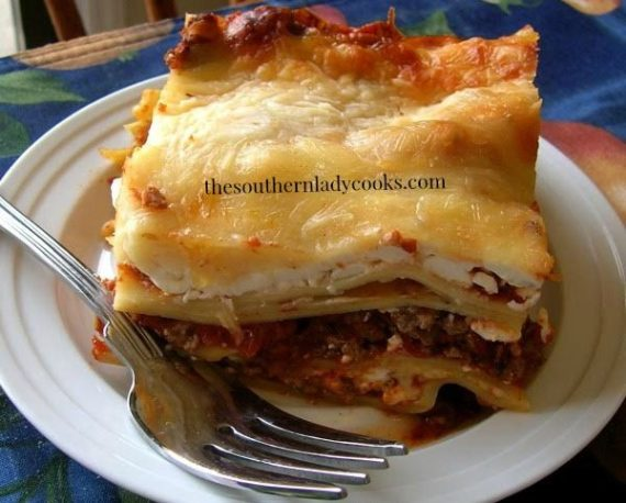 Lasagna - The Southern Lady Cooks
