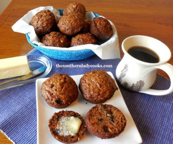 Morning Glory Muffins - The Southern Lady Cooks