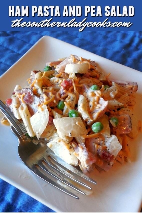 Ham Pasta and Pea Salad