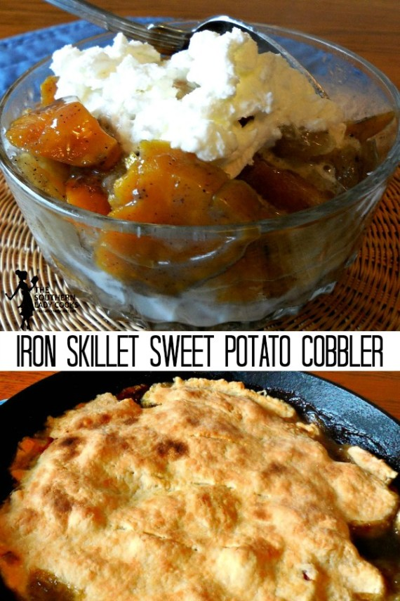 Iron Skillet Sweet Potato Cobbler