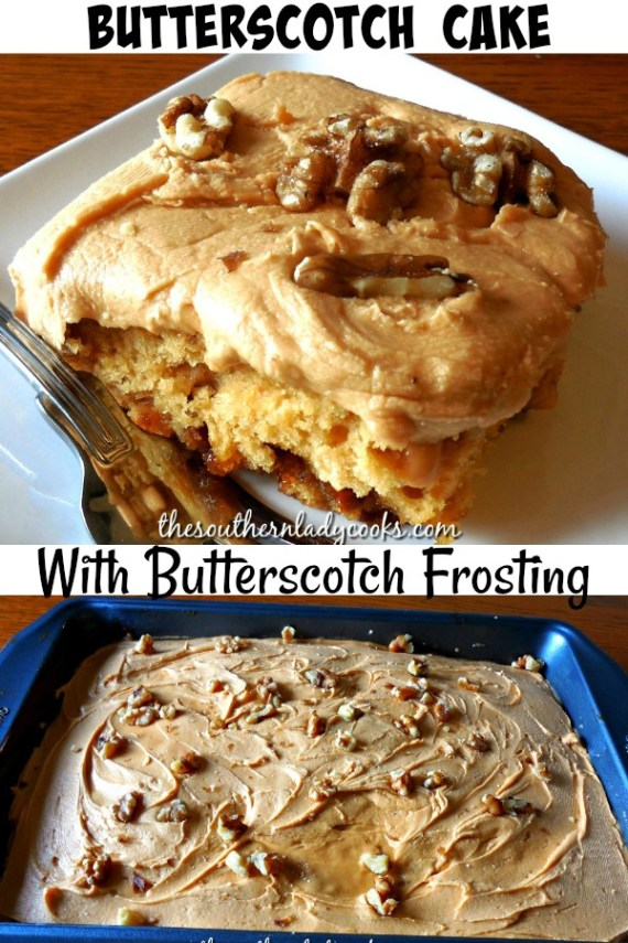 Butterscotch Cake - The Southern Lady Cooks