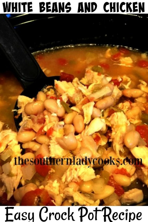 Crock Pot White Beans and Chicken