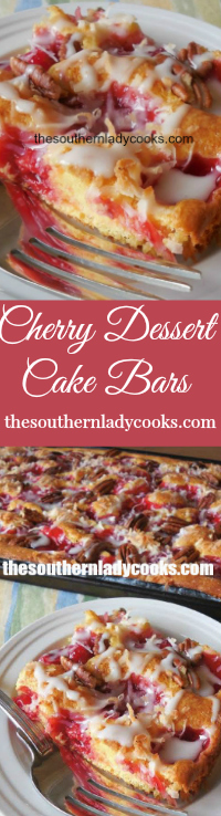 The Southern Lady Cooks Cherry Dessert Cake Bars