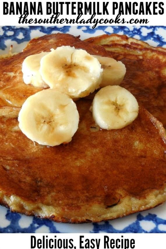 Banana Buttermilk Pancakes