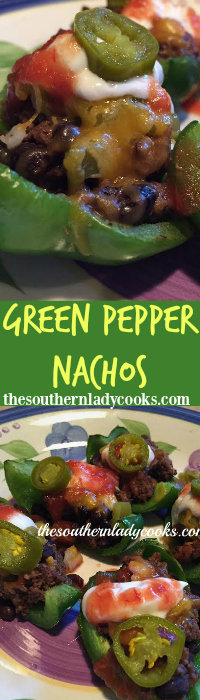The Southern Lady Cooks Green Pepper Nachos Light Recipe